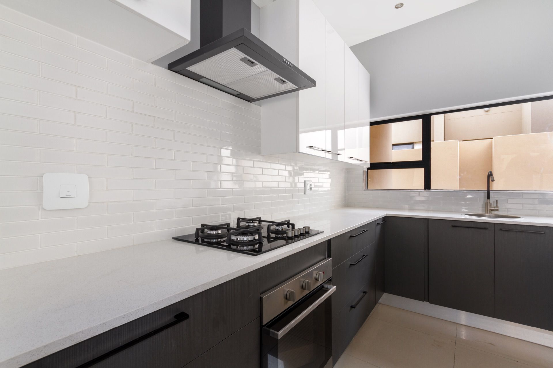 Modern kitchen and with stove